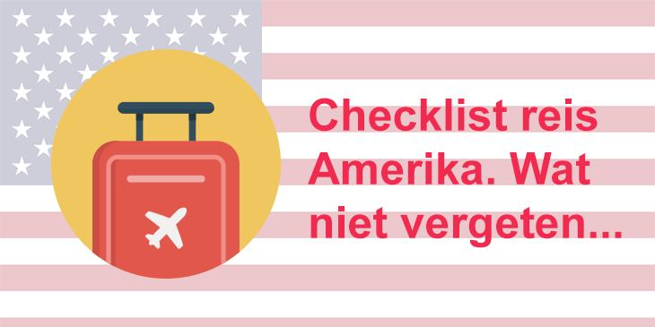 Checklist reis amerika