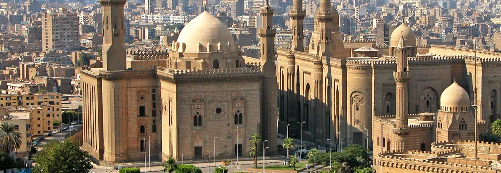 Een moskee in Caïro