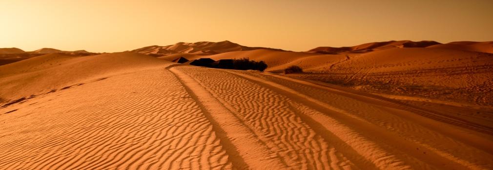 Woestijn in Egypte