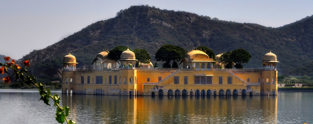 Jal Mahal (water paleis), Jaipur, India