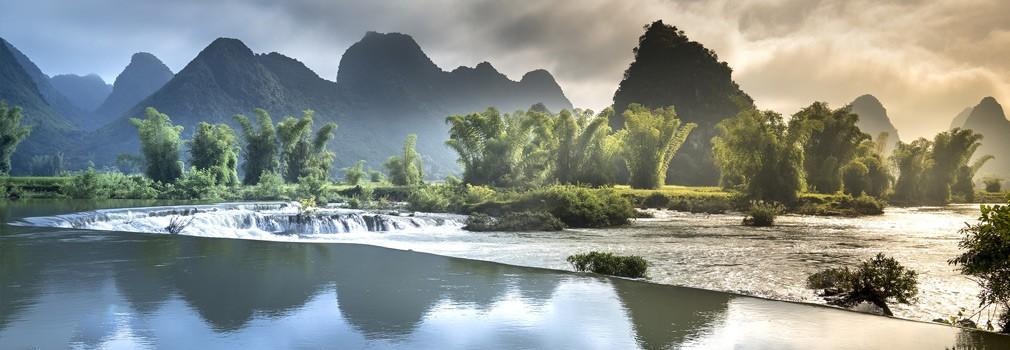 De schitterende natuur in Vietnam; een bekend gezicht is de typische bergvorming